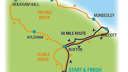 A map of the route they'll be taking. Photo: Richard Jarmy