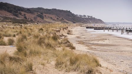 Corton coastline could see a dramatic change if coastal erosion is allowed to continue.Looking towar