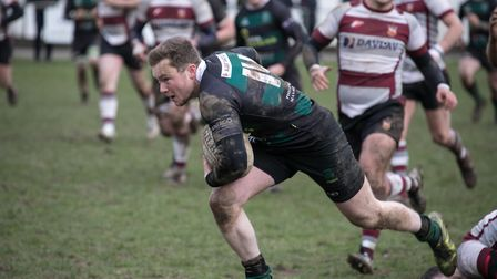 Jordan Mustard suffered bruised ribs in the home defeat against Brentwood last week. Picture: Hywel