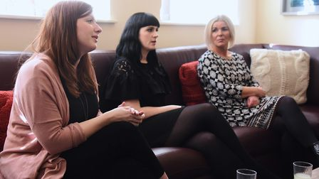 Staff at the Magdalene Group, from left, Deb McCormick, Jonna Barry, and Lesley McNay, during the vi