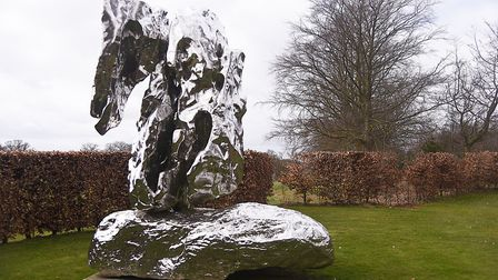 The Hat Makes the Man by Damien Hirst at Houghton Hall. Picture: Ian Burt
