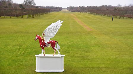 Legend on display at Houghton Hall. Picture: Ian Burt