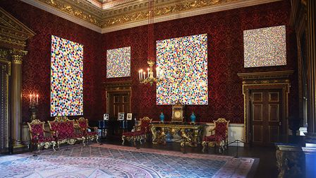 Spot paintings by Damien Hirst on display at Houghton Hall. Picture: Ian Burt