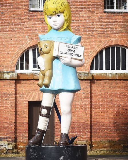 Damien Hirst's 'Charity' on display in the Stable Square at Houghton Hall. Picture: Ian Burt