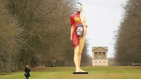 'The Virgin Mother' by Damien Hirst on display at Houghton Hall. Picture: Ian Burt
