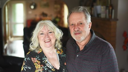 Barry and Christine Thrower at their home in Setchey. Picture: Ian Burt
