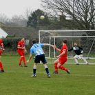 Action from a hard-fought 3-3 draw between St Abndrews and Caister at laundry Lane. Picture: Submitt