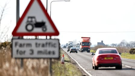 The A47 leading west towards Acle.March 2016.Picture: James Bass