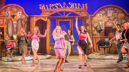 Lucie Jones as Elle Woods leads the cast in Legally Blonde The Musical. Photo: Robert Workman