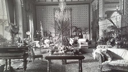 A rare glimpse of the plush interior at Costessey Hall. Photo: Archant Library