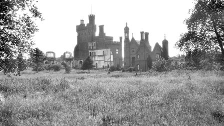 Picture showsCostessey Hall ruins [B613] 1933-07-02George Plunkett's photographs of old NorwichFor E
