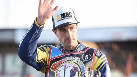 Niels-Kristian Iversen finished on the podium at the Simon Stead Farewell meeting. Picture: Ian Burt