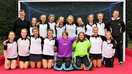 The Harleston Magpies Under-14 girls squad who have won through to the national finals in May. Pictu