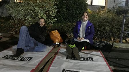 The Benjamin Foundation Sleep Out 2017. Fundraisiers get ready for the night ahead. Photo: Geraldine