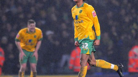 Oli Johnson celebrates after his last-minute goal earned a 2-1 win over Southend in February 2010 fo