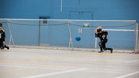 The Norfolk Hares junior team play Goalball. PICTURE: the4hrphotographer.co.uk.