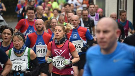 Action from the Wymondham 20-mile race. Picture: ANTONY KELLY