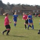 Action from the League Cup semi-final between Bungay Town and Thorpe. Picture: Graham Spurling