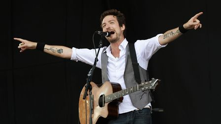 28/08/2011 PA File Photo of Frank Turner performing on the Main Stage at the Reading Festival, at Ri