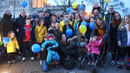 Co-organisers Emma Taylor, front left, with her son Eli, three, and Zoe Lee, front right, with her s
