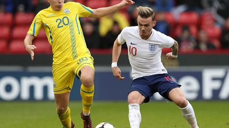 James Maddison set up the opening goal for England's Under-21s in their European Championship qualif