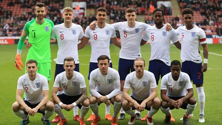 Angus Gunn and James Maddison were on duty for England's U21s. Picture: Mike Egerton/PA Wire.