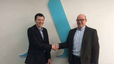 Mark Noakes, director of Aston Shaw, with Kevin Heaton, director of Tax Solutions. Picture: Aston Sh