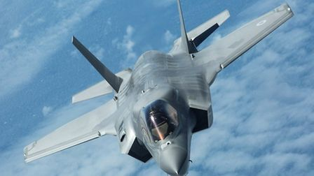 The F-35 Lightning aircraft that the new squadron headquarters at RAF Marham will house. Picture: Cr