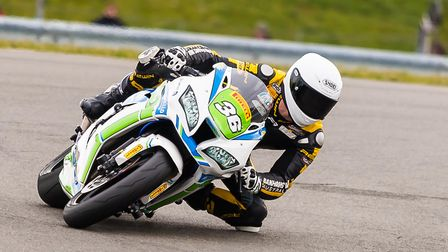 Morello Racing's Sam Clarke at Donington Park. Picture: Barry Clay