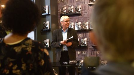 Neil Haverson launches his new book at Jarrolds book department. Picture: ANTONY KELLY
