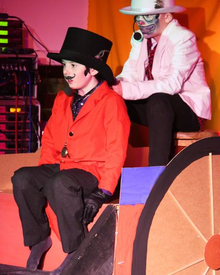 Wensum Junior Schoolchildren taking part in the opera About a circus called Lost in Time, written an