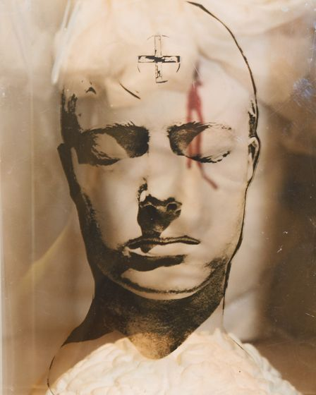 Part of the Head Box exhibits, Nightwood, by Penny Slinger, one of the exhibits in the Visible Women