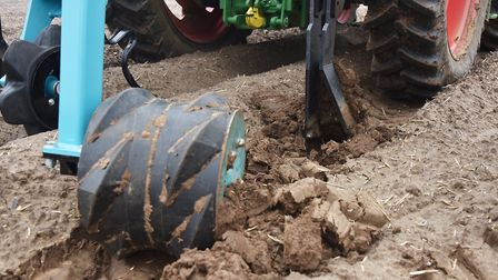 The Creyke Wheel Track Combi being trialled at Lodge Farm, Felmingham. Picture: ANTONY KELLY