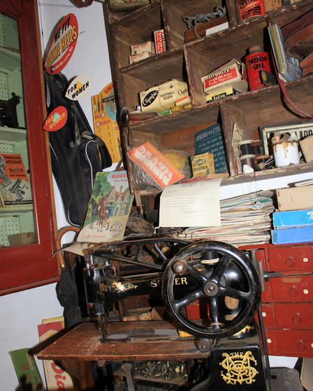 The interior of Ellis Pratt's Station Road saddler's shop, which was one of the first exhibits donat
