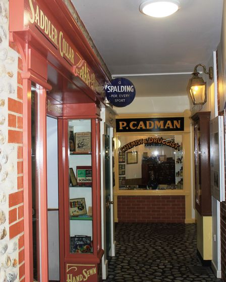 The reproduction high street at Sheringham Museum. Photo: KAREN BETHELL