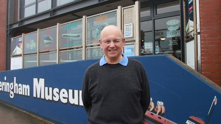 Museum trustee and director Tim Groves outside the seafront attraction. Photo: KAREN BETHELL