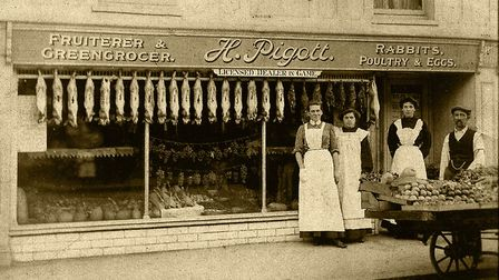 Piggot's greengrocers, one of the thousands of photographs held in the archives of Sheringham Museum