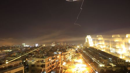 Damascus is seen as the U.S. launches an attack on Syria targeting different parts of the capital.