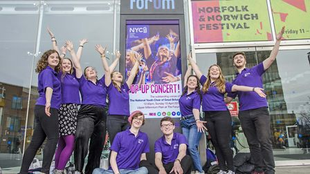 Around 200 locals and visitors enjoyed 30 minutes of music from the National Youth Choirs pop-up per