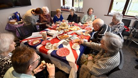 Wartime themed tea at Blofield to tackle loneliness and isolation within the elderly. Picture: ANTON