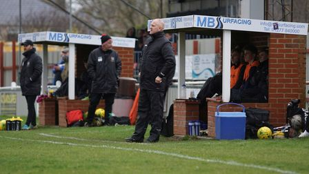 Lowestoft Town boss Dale Brooks. Picture: Shirley D Whitlow