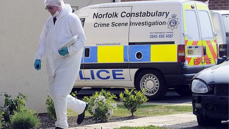 A CSI officer at the scene. Picture: Matthew Usher
