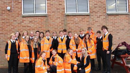 This year's Friendly Faces team at Aylsham High School. Picture: Kirsty Connor
