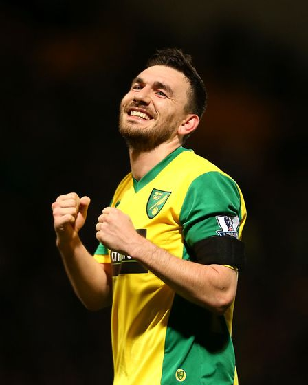 Robert Snodgrass celebrates a Carrow Road victory. Picture: PA