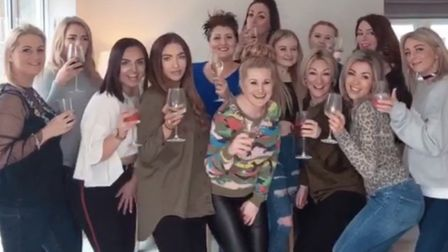 The team at Cream Hair Associates celebrating reaching the semi-final of two L'Oreal awards. Photo:
