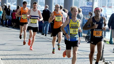 Runners at the first Simplyhealth Great East Run in Ipswich Picture: ANDY ABBOTT