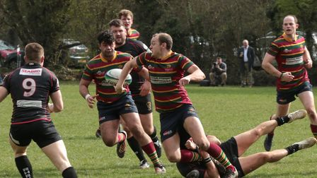 Norwich mount a rare attack at Rochford on a day they conceded over 100 points. Picture: ANDY MICKLE