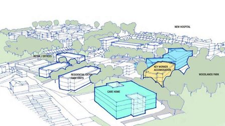 How the revamp Norwich Community Hospital site could look. Pic: GL Hearn.
