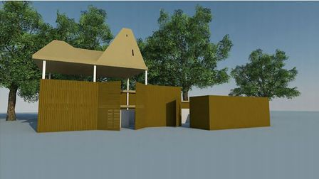 A bat roost above a bin store will need to be built before demolition on the Norwich Community Hospi
