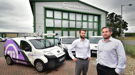 Netmatters. Chris and James Gulliver. Picture: ANTONY KELLY